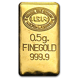 1/2 gram (Gold Bars & Rounds)
